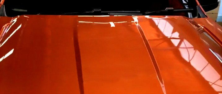 Marking Center Of Hood With Tape