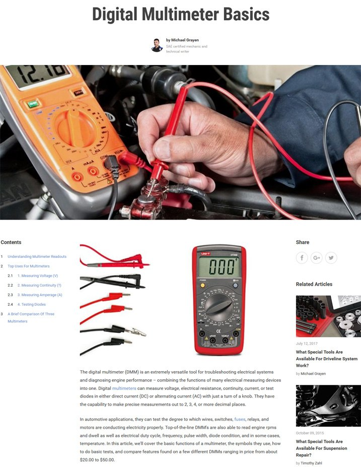Digital Multimeter Basics Article