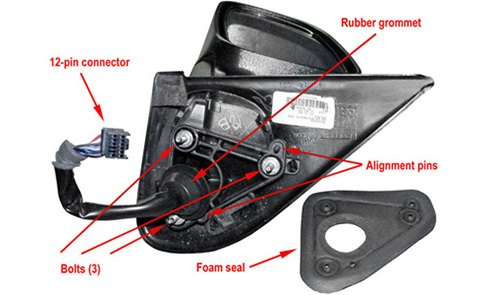 What You Need To Know When Ordering A Replacement Outside Mirror  Pin Wiring Harness Mirror on
