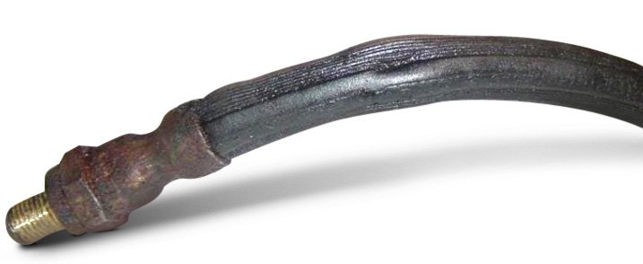 Collapsed Rubber Brake Line