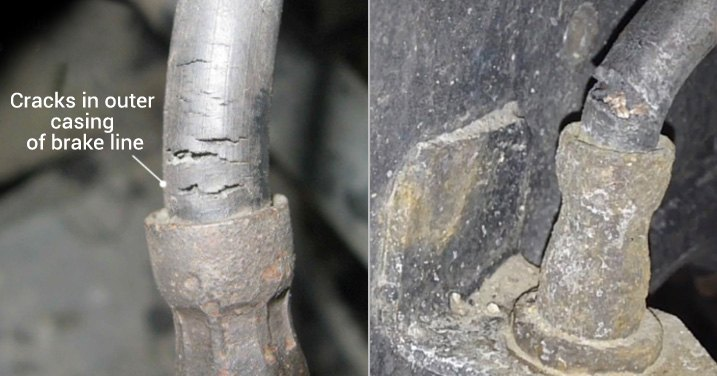 Cracked Rubber Brake Line