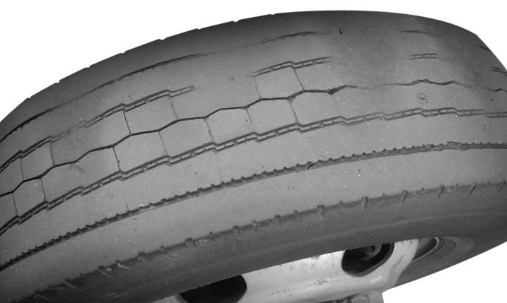 Example Of Cupping Worn-Out Tire