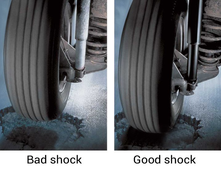 Vehicle With Worn-Out/New Shock Absorbers