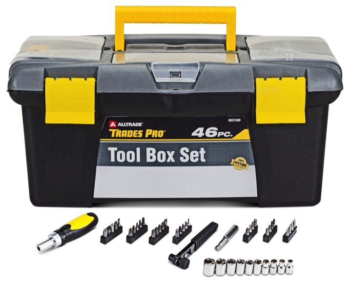 Box With Set Of Hand Tools