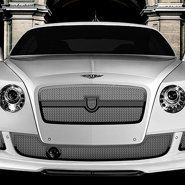 Image may not reflect your exact vehicle! Asanti® - Bentley Continental GT 2012 Verona Bodystyling Grille Kit, Black Frame / Chrome Mesh