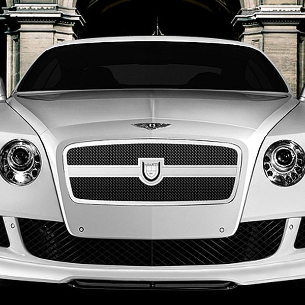 Image may not reflect your exact vehicle! Asanti® - Bentley Continental GT 2012 Verona Grille, Chrome Frame / Black Mesh