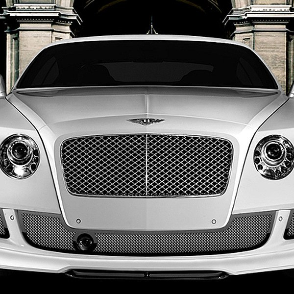 Image may not reflect your exact vehicle! Asanti® - Bentley Continental GT 2012 Verona Bumper Grille, Black Frame / Chrome Mesh