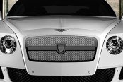 Image may not reflect your exact vehicle! Asanti® - Bentley Continental GT 2012 Verona Grille, Black Frame / Chrome Mesh