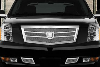Asanti® - Tropez Mesh Bodystyling Grille Kit, Chrome Accents / Chrome Mesh