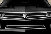 Asanti® - Carta Mesh Bodystyling Grille Kit, Chrome Frame / Black Mesh
