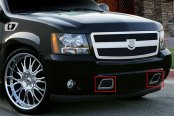 Image may not reflect your exact vehicle! Asanti® - Verona Bumper Grille, Chrome Frame / Black Mesh