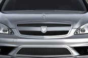 Asanti® - Verona Mesh Bodystyling Grille Kit, Chrome Frame / Black Mesh
