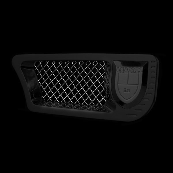 Asanti® - Side Vents, Black Frame / Chrome Mesh