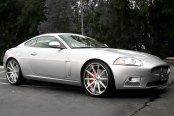 ASANTI® - 501 Brushed with Chrome Lip Concave Series on Jaguar XKR