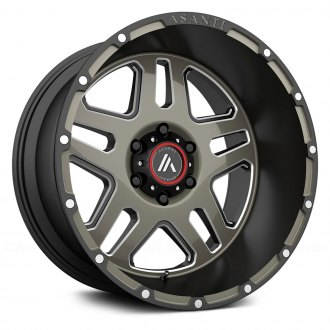 ASANTI OFF-ROAD® - AB809 Matte Black with Machined Face and Milled Tinted Clear