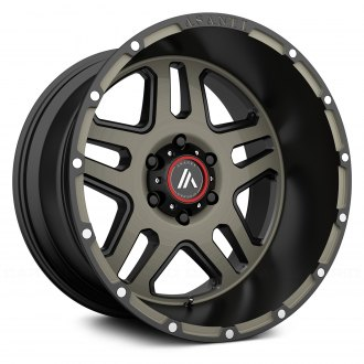 ASANTI Off-Road® - AB809 Matte Black with Machined Face and Tinted Clear