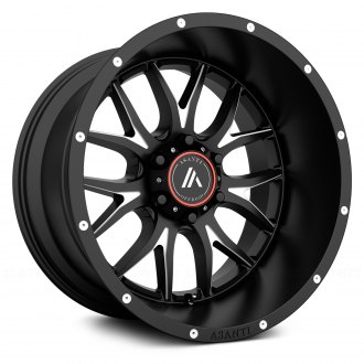 ASANTI Off-Road® - AB807 Satin Black with Milled Accents
