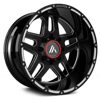 ASANTI Off-Road® - AB809 Gloss Black with Milled Accents