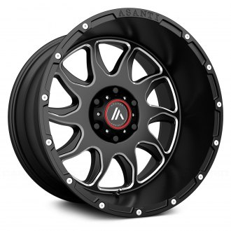 ASANTI Off-Road® - AB810 Gloss Black with Milled Accents