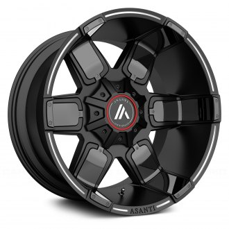 ASANTI Off-Road® - AB811 Satin Black with Milled Accents and Gloss Black Inserts