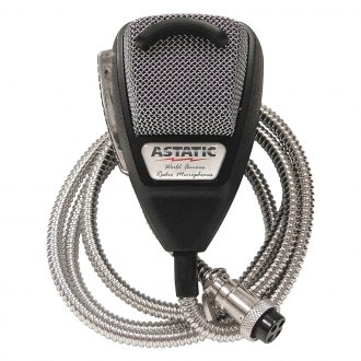 Astatic® - Silver Noise Canceling CB Microphone