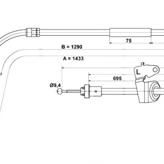 ACDelco 18P97005 Professional Rear Driver Side Brake Cable