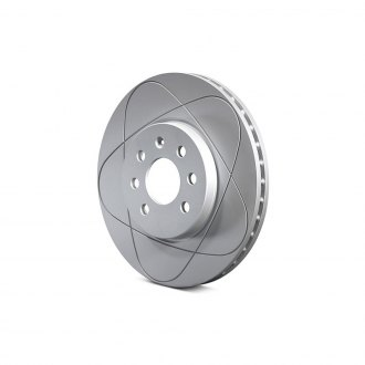 ATE® - PowerDisc Coated Slotted Front Brake Rotor