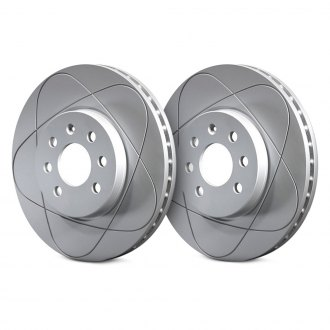 ATE® - PowerDisc Slotted Solid 1-Piece Rear Brake Rotor