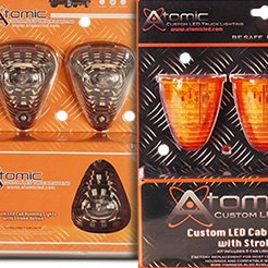 Atomic LED® - LED Strobing Cab Light Amber-2
