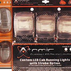 Atomic LED® - LED Strobing Cab Light Clear Lens-3