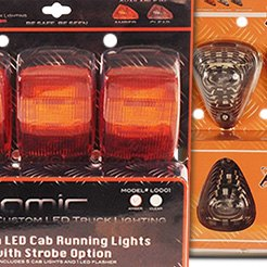 Atomic LED® - LED Strobing Cab Light Clear Lens