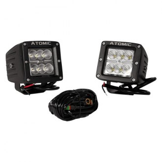 "Atomic LED® - Stud Mount 3"" 2x18W Cube Flood Beam LED Lights"