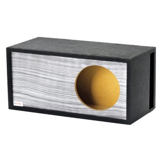 "Atrend® - 15"" Single Vented SPL Wood grain Carbon Fiber Subwoofer Box"