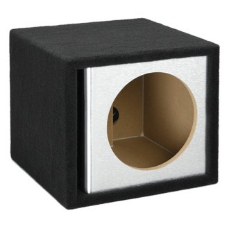 "Atrend® - 15"" Single Vented Brushed Aluminum Carbon Fiber Subwoofer Box"