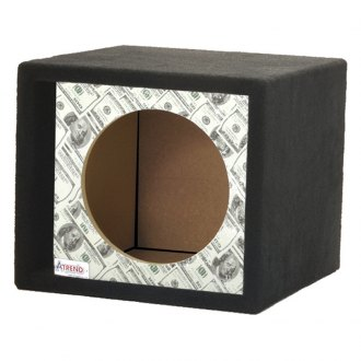 "Atrend® - 15"" Single Vented Bankroll Carbon Fiber Subwoofer Box"