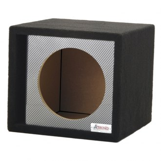 "Atrend® - 15"" Single Vented Black Carbon Fiber Subwoofer Box"