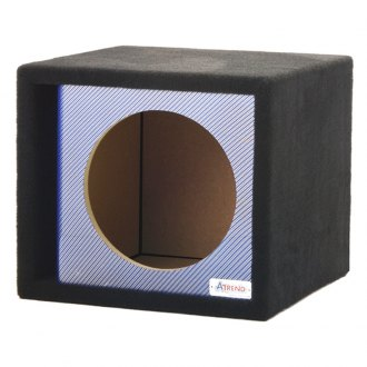 "Atrend® - 15"" Single Vented Blue Carbon Fiber Subwoofer Box"