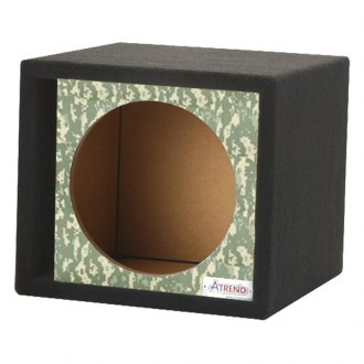 "Atrend® - 15"" Single Vented Digi Camo Carbon Fiber Subwoofer Box"