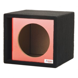 "Atrend® - 15"" Single Vented Red Carbon Fiber Subwoofer Box"