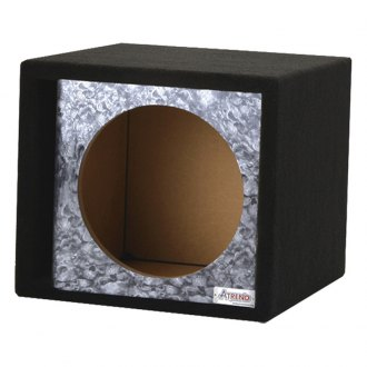 "Atrend® - 15"" Single Vented Reaper Black Carbon Fiber Subwoofer Box"