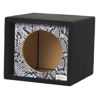 "Atrend® - 15"" Single Vented Reptile Style Carbon Fiber Subwoofer Box"