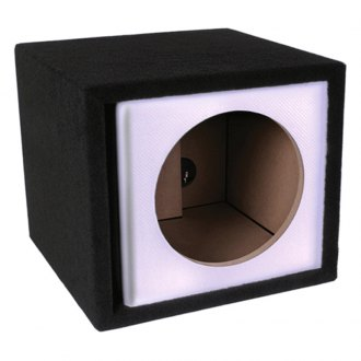 "Atrend® - 15"" Single Vented White Carbon Fiber Subwoofer Box"