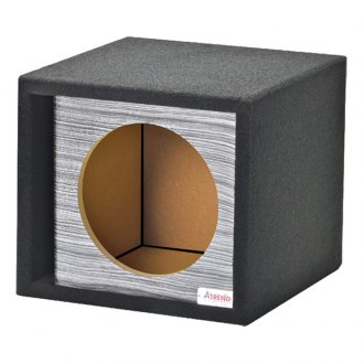 "Atrend® - 15"" Single Vented Wood grain Carbon Fiber Subwoofer Box"