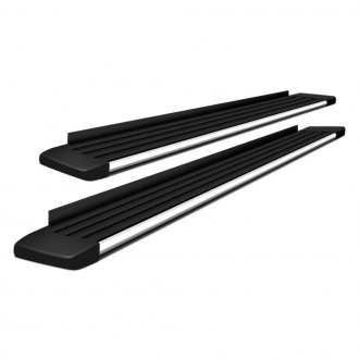 ATS® - Matrix Series Anodized Silver Running Boards
