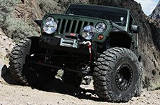 ATX SERIES® - SLAB Satin Black Wheels with Black Beadlock on Jeep Wrangler