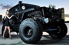 ATX SERIES® - SLAB Wheels in Satin Black Finish with Black Beadlock on Jeep Wrangler