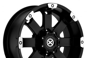 "ATX SERIES® - CRAWL Matte Black with Machined Accents (18"" x 8.5"", +15 Offset, 6x139.7 Bolt Pattern, 106.25mm Hub)"