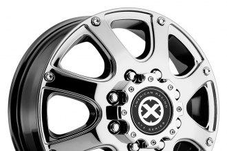 "ATX SERIES® - LEDGE DUALLY Bright PVD (17"" x 6"", +134 Offset, 8x165.1 Bolt Pattern, 125.5mm Hub)"