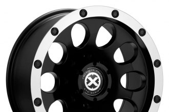 "ATX SERIES® - SLOT Satin Black with Machined Lip (17"" x 8"", 0 Offset, 6x139.7 Bolt Pattern, 108mm Hub)"