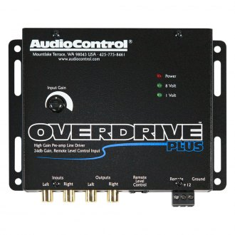 Audio Control® - Overdrive Plus™ 2-Channel Line Driver with Optional Level Control